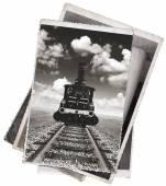 ビンテージ写真古い機関車 — ストック写真