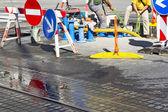 Repair of water pipes — Stock Photo
