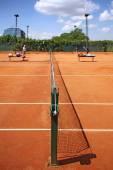 Jogando tênis — Fotografia Stock
