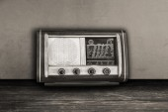 Старые фото Vintage старомодным радио — Стоковое фото