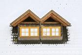 Roof windows under snow — ストック写真