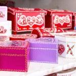 Gift boxes Croatian souvenir — Stock Photo #64734713