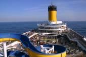 Deck cruise ship Costa Magica — Stock Photo