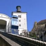 Funicular and Kula Lotrscak in Zagreb — Stock Photo #66335415