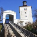 Funicular and Kula Lotrscak in Zagreb — Stock Photo #66335423