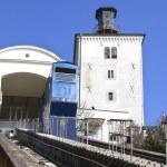 Funicular and Kula Lotrscak in Zagreb — Stock Photo #66335451
