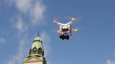 Drone is flying — Stock Video