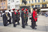 Changing of the guard honorary Cravat Regiment — Stock Photo