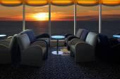 Lounge on a cruise ship — Stock Photo