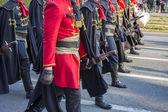 Festive Military parade — Stock Photo