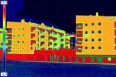 Thermovision image on Residential building — Stock Photo