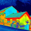 Thermal image on House — Stock Photo #82006228