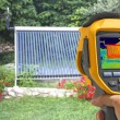 Recording Vacuum solar system With Thermal Camera — Stok fotoğraf #82622424