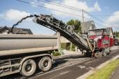 Asphalt road milling machine — Stock Photo