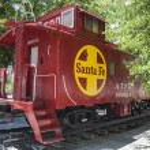 Kingman, AZ, USA, old Santa Fe railroad cupola caboose at Route 66 — Stock Photo #80081028