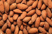 Almonds as food background — Stok fotoğraf