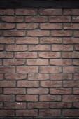 Architecture. Brick wall with wooden beam background — Stock Photo