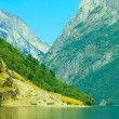 Tourism and travel. Mountains and fjord in Norway. — Stock Photo #52568155