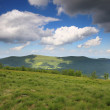 Nature. Green mountain landscape in the summer — Stock Photo #52568615