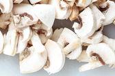 Comida. champigonons de cogumelos brancos frescos — Foto Stock