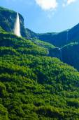 Beautiful waterfall in Norway fjords — Stock Photo