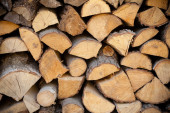 Closeup of firewood as background texture — Stock Photo