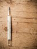 Medical background. Mercury thermometer. — Stock Photo