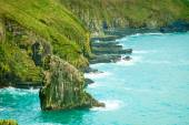 Irish landscape. Coastline atlantic ocean coast scenery. — Stock Photo