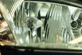 Car headlight detail — Stock Photo
