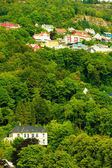 Houses on hills in city — Stock Photo