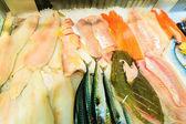 Fishes at fish market — Stock Photo