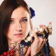 Girl with plenty of jewellery — Stock Photo #54157167