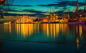 Sailing ships in harbor — Foto Stock