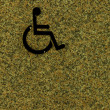 Handicapped sign on wall — Stock Photo #54223157