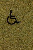 Handicapped sign on wall — Foto de Stock