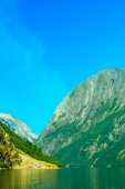 Mountains and fjord in Norway — Stock Photo