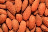 Almonds as food background — Stockfoto