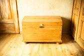 Wooden chest like treasure box — Foto de Stock