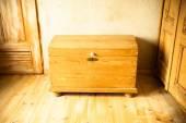 Wooden chest like treasure box — Stock Photo
