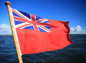 British maritime red ensign flag — Stock Photo