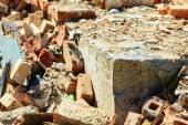 Stack of old bricks — Stock Photo