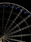 Ferris observation wheel at night — Stock Photo