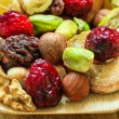 Dried fruits and nuts — Stock Photo #55542439