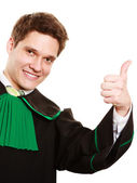 Man lawyer showing thumb up — Stock Photo