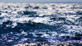 Blue sea surface — Stock Photo