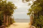 Entrance to sandy beach — Stock Photo