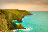 Irish landscape. Coastline atlantic ocean coast scenery. — Foto Stock