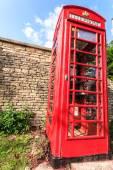 Traditional telephone box in UK — Stock Photo