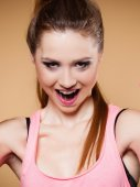 Funny girl teen — Foto Stock