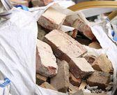 Full construction waste debris bags — Stock Photo